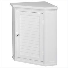 Elegant Home Fashions Slone 1-Door Corner Wall Cabinet in White - ELG-587