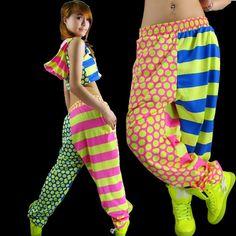 New Brand Jazz harem women hip hop pants  casual Trousers stripe dot print performance wear  sweatpants #Affiliate