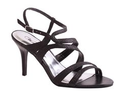 b6ca05c9b78 These black glitter evening sandals have a 3 inch high heel. They have that  trendy