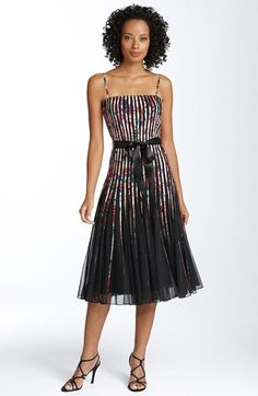 JS Collections Ribbon Trim Mesh Dress available at #Nordstrom