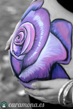 Belly painting,in barcelona pintura para embarazada, rose