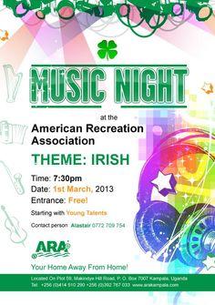 ARA Music Night - Theme: Irish