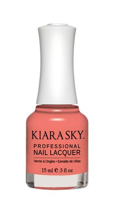 Kiara Sky Nail Polish N542 Twizzly Tangerine. Kiara Sky® Professional Nail Lacquer is an advanced formula free of Formaldehyde, Toluene, and DBP. Our highly pigmented, high-fashion nail lacquer provides glassy, full coverage, long-wearing shine for natural nails. Kiara Sky patent-pending bottle design is paired with Precision Brush® technology engineered to complement our highly pigmented formula, giving you the most even and precise lacquer application. Available in 101 trendsetting...