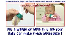Mesh Feeder -  Invented, patented and marketed by a dad who almost lost his baby due to choking on a teething biscuit...
