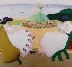 Appliqué by Diploma student Martine Carlier, Royal School of Needlework
