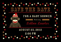 Baby Shower Save the Date designed by Carly Churchill