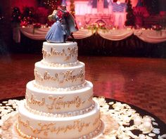 Hate the colors. Love the cake topper!! <3 and I like the layers just not the writing or color.