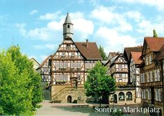 Postcard from Germany ~ Sontra ~ Marktplatz ~ Erholungsort 36205 Sontra ~ Im schonen Hessenland www.postcrossing.com
