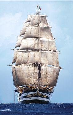 Amerigo Vespucci, Tall Ship, Ph. Franco Pace