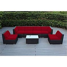 Create a beautiful outdoor seating area you have always dreamed of with patio furniture by Ohana. Constructed from a light-weight aluminum frame and hand woven from the top quality PE resin wicker fiber, Ohana Deep Seating Sectional with Otto Sectional Patio Furniture, Outdoor Wicker Furniture, Wicker Sofa, Patio Furniture Sets, Wicker Trunk, Wicker Mirror, Wicker Shelf, Coastal Furniture, Cheap Furniture