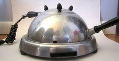 RETRO ATOMIC STEAMPUNK PREVORE STREAMLINE ELECTRIC BROILER GRILL FRY BAKE 1950 s