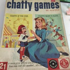 Great addition to your #ChattyCathy display and collection. Mattel Vtg 1962 Charmin Chatty Cathy Games At the Worlds Fair, Skate 'n Slide