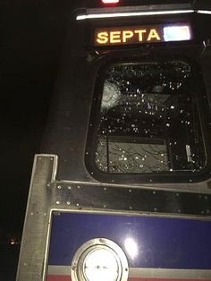 106 mph around a curve??? Are these bullet holes in the windshield of the Amtrak that derailed?  - TheRightScoop
