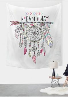 Arrow Dream Catcher Printed Rectangle Tapestry