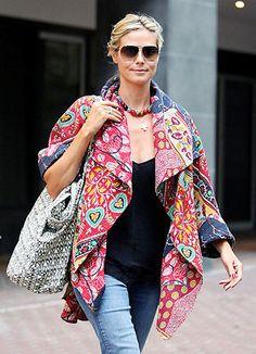 Heidi Klum in batik :)