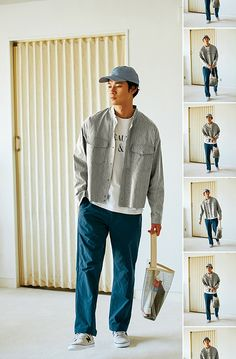 BEAUTY&YOUTH|2018 SPRING ISSUE for MEN | Part.2 WARD ROBE Korean Fashion, Mens Fashion, Fashion Outfits, Mode Man, Photographie Portrait Inspiration, Pantalon Large, Herren Outfit, Retro Outfits, Mens Clothing Styles