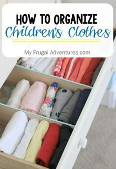 How to Organize Children's Clothing- quick and inexpensive way to keep those dresser drawers neat and tidy! Kids Clothes Organization, Kids Bedroom Organization, Organization Station, Bedroom Storage, Organizing Ideas, Dresser Drawer Organization, Dresser Drawers, Childrens Dresser, Clothes Drawer