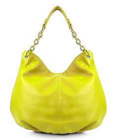 BODHI Electric Yellow Leather Hobo