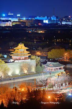 Forbidden City at night   by Songquan Deng