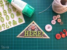 I know it's kinda' basic, still I thought it'd be nice to add this short tutorial. Corner Bookmarks, Green Box, Up House, Cricut Tutorials, Journal Cards, Triangle, Book Marks, Cool Stuff, Blog