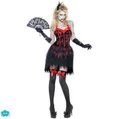 Disfraz de zombie burlesque para mujer
