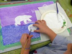 that artist woman: Polar Bears Revisited Winter Art Projects, Projects For Kids, Art Activities For Kids, Art For Kids, Preschool Ideas, Teaching Ideas, Polar Beat, Classroom Art Projects, Classroom Ideas