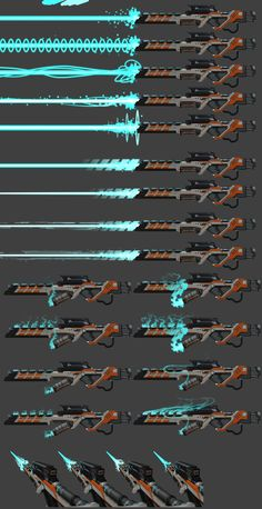 Older work of some initial vfx concepts of the plasma weapons of Offensive Combat. Anime Weapons, Sci Fi Weapons, Weapon Concept Art, Weapons Guns, Fantasy Weapons, Sword Design, Future Weapons, Prop Design, Cyberpunk