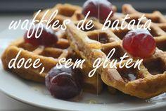 158. Waffles De Batata Doce E Farinha De Arroz | Sem Gluten | Waffles Fit