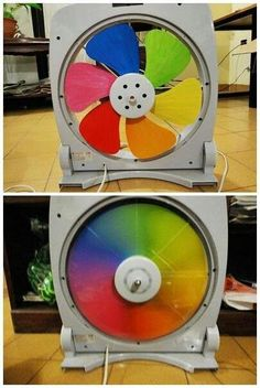 How fun this rainbow fan would be in the art classroom! Easy Diy Crafts, Crafts For Kids, Rainbow Fan, Maker Fun Factory Vbs, Ideias Diy, Elementary Art, Classroom Decor, Art Lessons, Craft Projects