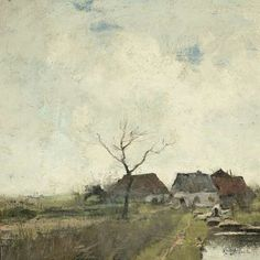 Huisje aan een sloot, Anton Mauve, 1870 - 1888 - Rijksmuseum