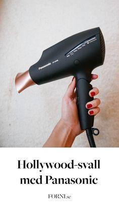 Redaktör Amanda har testat en panasonic hårfön, den utvärderar hon och visar hur man får till det perfekta svallet!