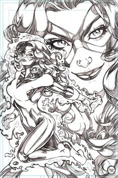 Marvel Girl by Adriana Melo Comic Book Artists, Comic Artist, Comic Books Art, Marvel Comics, Marvel Art, Ms Marvel, Superhero Coloring, Jean Grey Phoenix, Black And White Comics