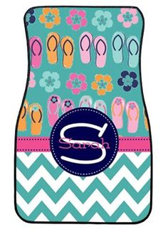 Personalized Car Mats Flip Flops Monogrammed Car by ChicMonogram, $75.00