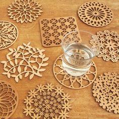 Wooden Coasters Diy, Laser Cut Box, Bois Diy, Wood Carving Designs, Cnc Wood, Diy Cutting Board, House Plants Decor, Ramadan Decorations, Decoupage Vintage