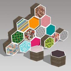 CartaGone, blocs modulables et personnalisables en carton by CARTAWAN