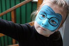 """Kinderschminken macht Spaß - Vorlage: """"Kummer"""" aus dem FIlm """"Alles steht Kopf"""""""