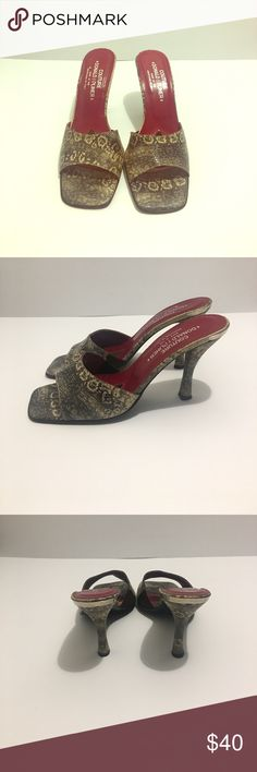 Vintage Couture Brown/Red Snake Skin Pump Size 9 Vintage Donald J Pliner Snake Skin Couture Designer Pumps Size 9! Very classy elegant design for casual and professional settings! couture Shoes Heels