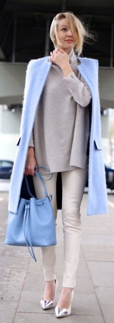How To Wear Winter Pastels - Outfit Ideas | Style Inspiration