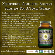 ZeoForce Zeolite – Detoxify Daily                   Ancient Solution For A Toxic World