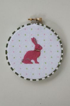 A personal favorite from my Etsy shop https://www.etsy.com/listing/185151146/easter-bunny-rabbit-embroidered-hoop-art