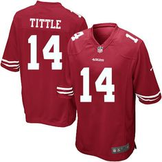 5dd805118 Nike Limited Y.A. Tittle Red Youth Jersey - San Francisco 49ers  14 NFL Home