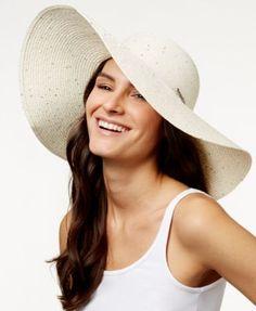 a0e4ea827ef Calvin Klein Sequin Floppy Sun Hat - Handbags  amp  Accessories - Macy s  Summer Hats