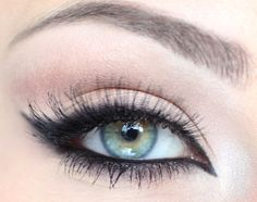 soft with a touch of smokey eye