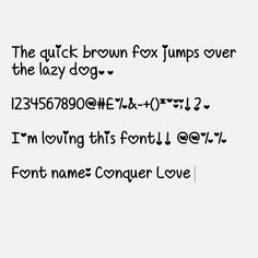 My Cute Fonts: Conquer Love Font (Android only)