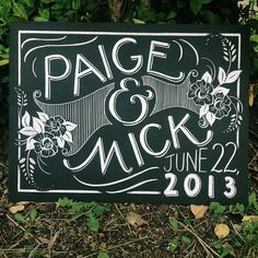 Wedding Chalkboard Sign  Chalk Typography Hand Lettering by Jazzy Chalks