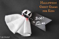 Halloween Craft For Kids: Spooky Ghost Grams
