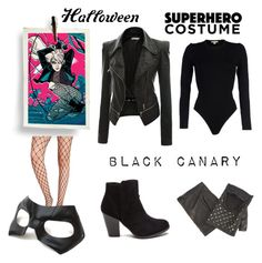 Black Canary by starspy on Polyvore featuring Michael Kors, Doublju, Masquerade, Missguided, The Kooples, Halloween, 60secondstyle and superherocostume
