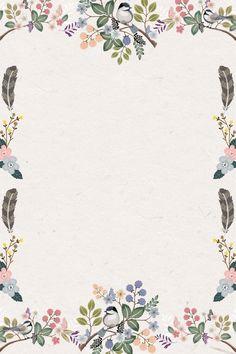 Floral Watercolor Background, Flower Background Wallpaper, Flower Backgrounds, Paper Background, Frame Floral, Flower Frame, Page Borders Design, Instagram Frame Template, Poster Background Design