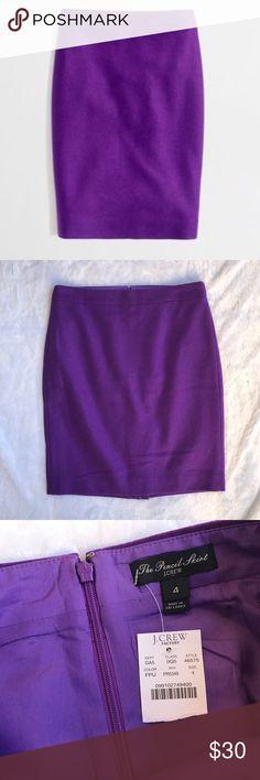 J. Crew Purple Wool Pencil Skirt Condition: Brand New Size: 4 Color: purple Length: 21inch Waist: 15inch J. Crew Skirts Midi