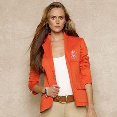 Custom Crested Polo I Blazer - Jackets Women - Ralph Lauren France